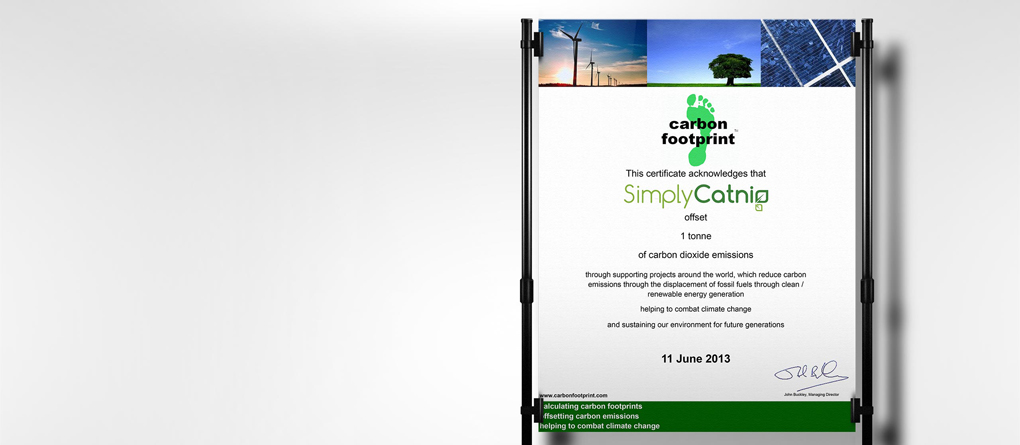 Carbon Footprint Offsetting Certificate